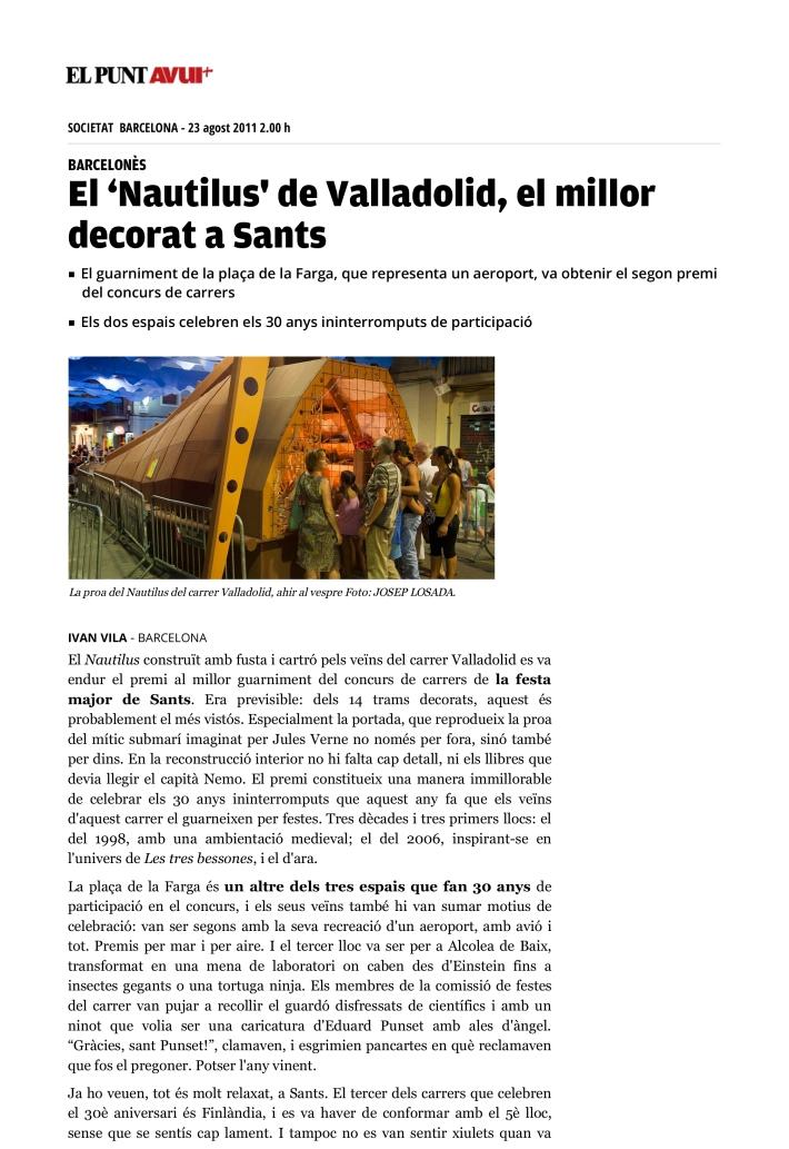 El Punt Avui - Notícia_ El 'Nautilus' de Valladolid, el millor decorat a Sants-1